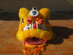 Just Lion Head of China Lion Dance Traditional Mascot Costume