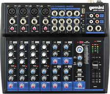 Gemini GEM-12USB 12CHANNEL BLUETOOTH Podcasting Live Sound MIXER,w/ USB playback