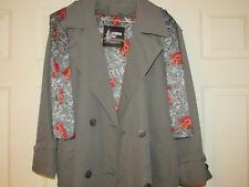 NOS London Fog Wamsutta Women's SCARF Trench Coat RARE FLORAL Size 6P USA