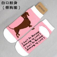 Cute Pink Socks puppy 100% combed cotton animal anti-skid one size fits most