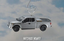 2015 Ford F150 Ext Cab Pickup Truck Christmas Ornament 1/64 F-150 Ingot Silver
