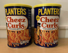2Pk PLANTER'S CHEEZ CURLS, 4 oz CANISTERS. SEALED AND NEVER OPENED.