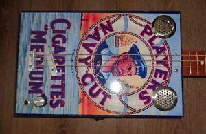 """ Players Navy Cut "" Three String Cigar Box Guitar by Colvis"