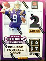2020 Panini Contenders Draft Picks Football Blaster box -Joe Burrow rookie auto?