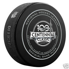 NHL OFFICIAL GAME PUCK HOCKEY 2017 Centennial Outdoor Game TORONTO - w / cube