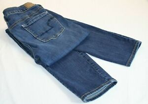 American Eagle Womens Size 8 Long 30 x 33 Super Stretch Denim Blue Jeans