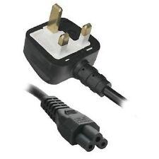 5 X  2M Clover Leaf C5 Mains Power Lead 5 Amps Fuse