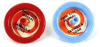 Vintage TWIN CITY FEDERAL SAVINGS & LOAN Advertising TOY SPIN TOPS