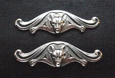 SILVER PLATED BAT MENUKI Japanese Samurai Sword Katana or Knife Hilt Decoration