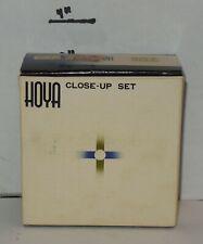 Vintage Hoya Close-up 55 mm Filter Kit in case +1, +2, +4