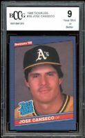 1986 Donruss #39 Jose Canseco Rookie Card BGS BCCG 9 Near Mint+