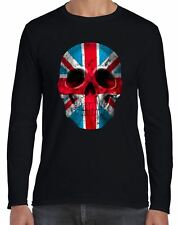 Union Jack Skull Long Sleeve T-Shirt - Flag Holidays Footbal Rugby Athletics