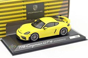 Porsche 718 Cayman GT4 Type 982 2019 Racing Yellow Spectrum Edition 1:43
