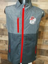 New listing Champion Small Mens George Bulldog FullZip Gray Red Black Golf  Vest New With...