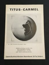[10304-B45] Art - Catalogue - Gérard Titus-Carmel - 1973 - München Contemporain