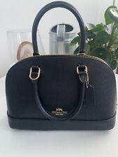 NWT New Coach Mini Sierra Satchel Crossgrain Leather handbag Black