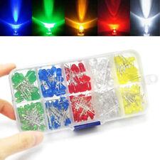 200/300/500Pcs 3/5mm LED Light White Yellow Red Blue Green Assortment Diodes Kit