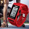 SKMEI Men Women Sport Pedometer LED Digital Step Walking Waterproof Wrist Watch