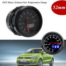 "2"" 52mm Car Exhaust Gas Temperature Gauge EGT Meter Digital LED Display w/Sensor"