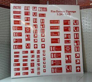G 1:24 Maßstab Moderne Garage Gebäude Feuer Warning Notice Zeichen Eisenbahn