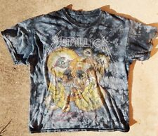 Tie Dye METALLICA SHORTEST STRAW Shirt Large OFFICIAL Double Sided! Distressed