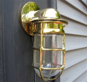 Maritime Oceanic Angle Lamp - wired Solid Brass