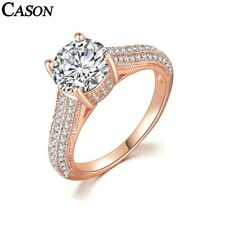 18K White/Rose Gold Ring Jewelry Gift Fashion Aaa Cubic Zirconia Wedding Rings