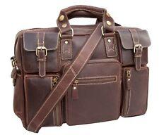 Neues AngebotLAGOMORPHA Outback Luxus Leder Multi Taschen Reise Business Büro Tasche EX DISPLAY