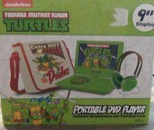"New listing Tmnt900 Nickelodeon Ninja Turtles 9"" Portable Dvd Player Carrying Bag Headset"