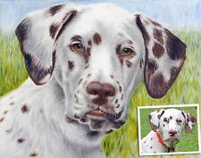 Hundeporträt nach Foto malen lassen/Portrait zeichnen von Stefan Pabst