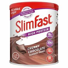 Slim Fast Diet Chocolate Milkshake Powder Meal Replacement For Weight Control