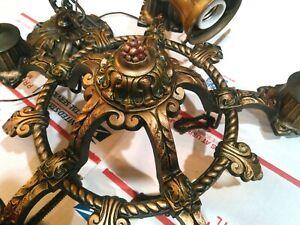 Antique/Vintage Riddle Co.Victorian Ceiling 5 Light Fixture.Chandelier.