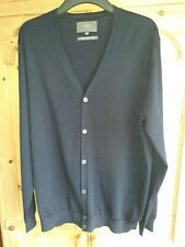 Mens M&S Collection XL Cardigan Navy Blue Pure Merino Wool EXCELLENT CONDITION