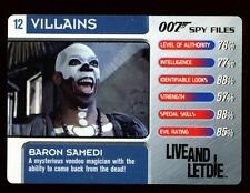 Baron Samedi #12 Villains - 007 James Bond Spy Files Card