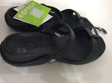 ebcf1a73c0e4f CROCS CLEO SANDALS IN BLACK WOMENS SIZE 5 NEW WITH TAGS