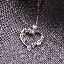 South Korea Style Fashion Exquisite Rhinestone Necklace Heart Shaped Female