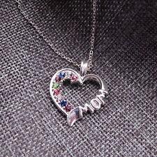 South Korea Style Fashion Exquisite Rhinestone Necklace Heart Shaped Female