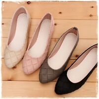 BN Womens Casual Pointed Toe Braided Ballet Flats Ballerina Loafers Slides Shoe