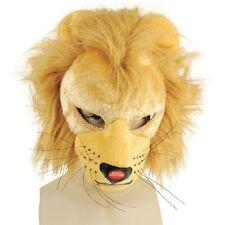 León máscara facial completa con sonido Fancy Dress Accesorio Adultos
