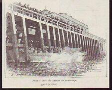 1895  --  BOULOGNE  MISE A L EAU BATEAU SAUVETAGE  Q061