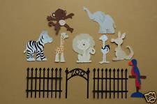11 Piece Cricut Zoo Die Cardstock Cut/Cuts Set