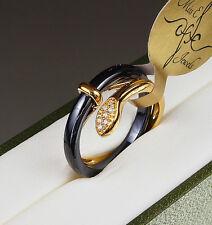Womens Tungsten Carbide Snake Ring Wedding Engagmnet Band Size Q 18.1 mm Gold