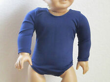 NAVY BLUE LONG-SLEEVED LEOTARD for GYMNASTICS fits all American Girl Dolls