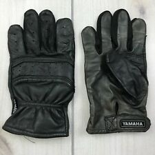 Yamaha Leather Gloves Black Mens Medium