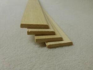 (a87) 4Stk 100cm Sockelleiste Abachi 5x34mm Fegeleiste Abdeckleiste Holzleisten
