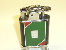 GOLDEN WHEEL VINTAGE ART DECO ENAMEL AUTOMATIC PETROL POCKET LIGHTER - U.S.A.