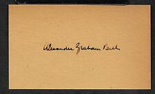 Alexander Graham Bell Autograph Reprint On Genuine Period 1890s Paper
