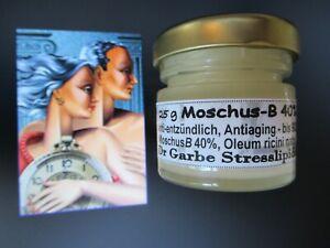 MoschusB 40% (12€/10g) antiaging Hautflecken Nervenstärke Diabetes Infarkt Krebs