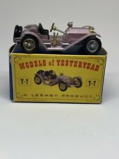Lesney Models of Yesteryear 1913 Mercer Raceabout 35J Y-7 Silver & Gold Wheels