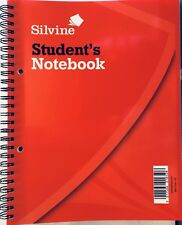"""Students Spiral Notebook 9""""x7"""" Lined Silvine 120 Pages NarrowFaint Fast Despatch"""